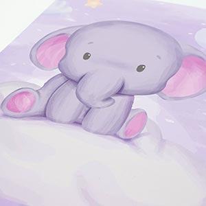 """Emadele poster elefant - Emadele 3er Poster Set """"Über den Wolken"""""""