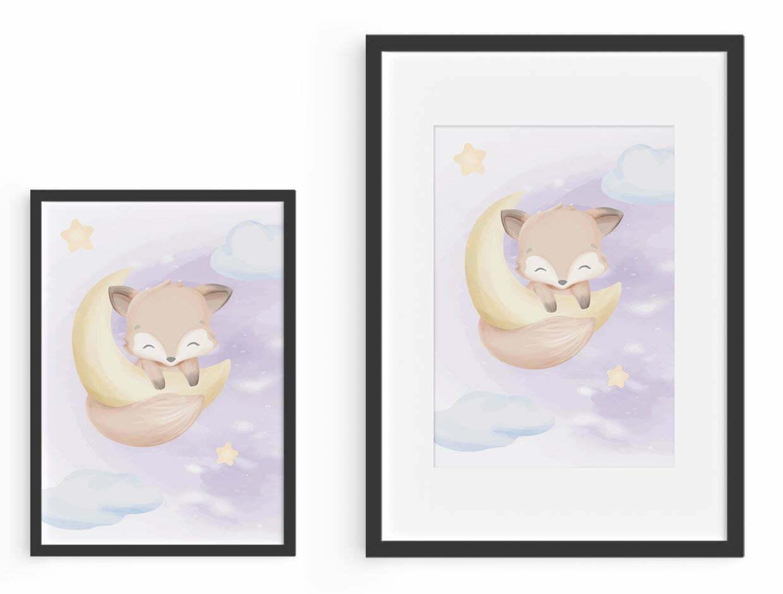 """emadele Poster top view auf holz 2 - Emadele 3er Poster Set """"Über den Wolken"""""""