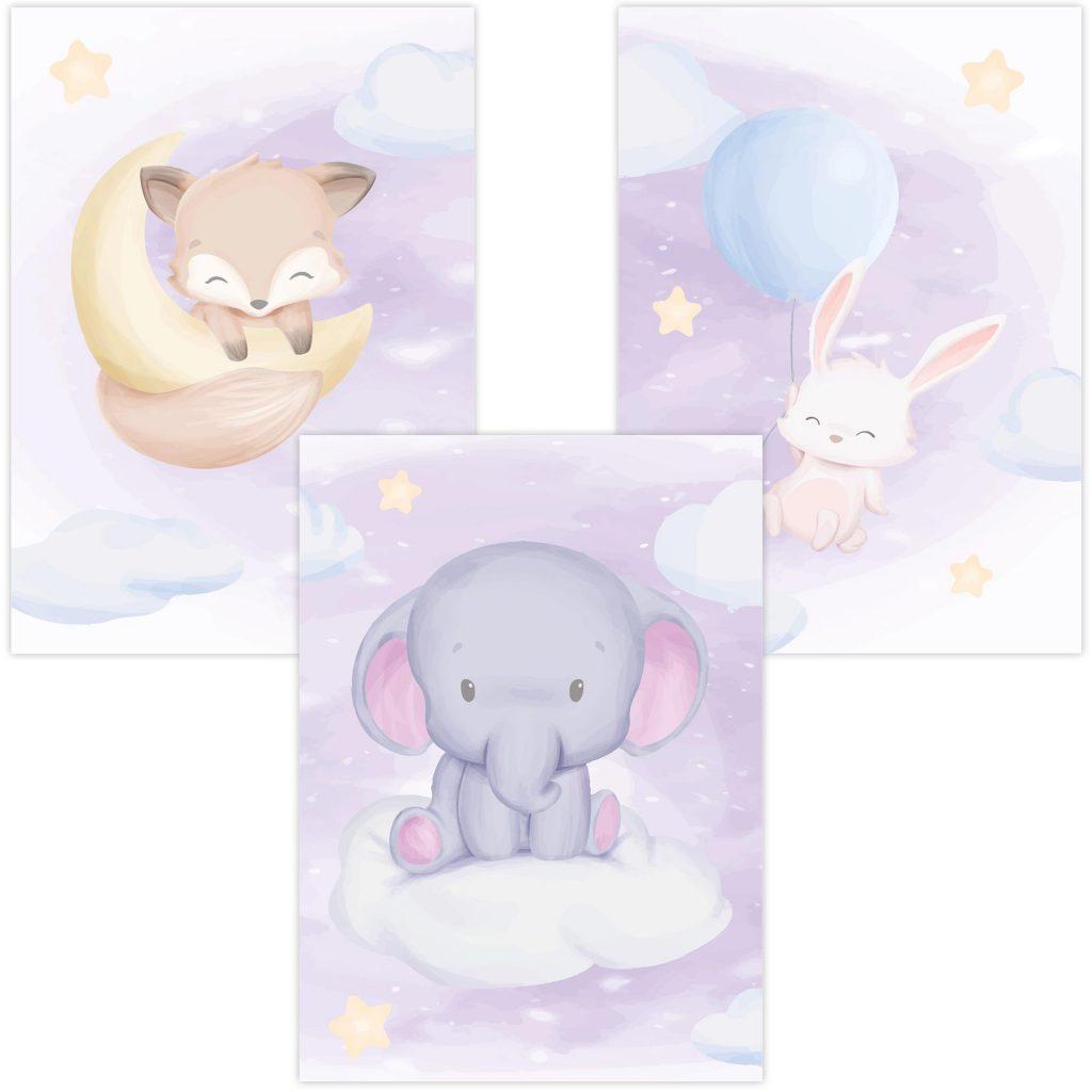 """3685 Product - Emadele 3er Poster Set """"Über den Wolken"""""""