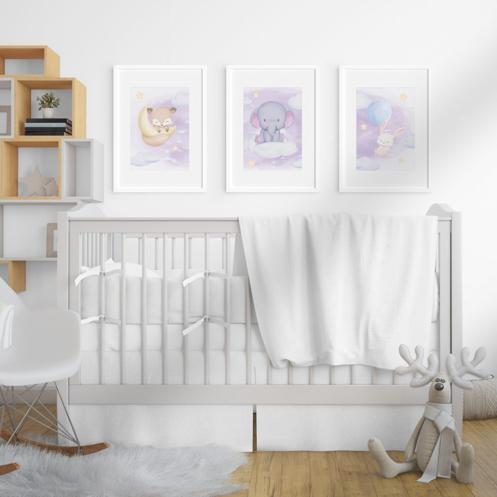 """3686 Product - Emadele 3er Poster Set """"Über den Wolken"""""""
