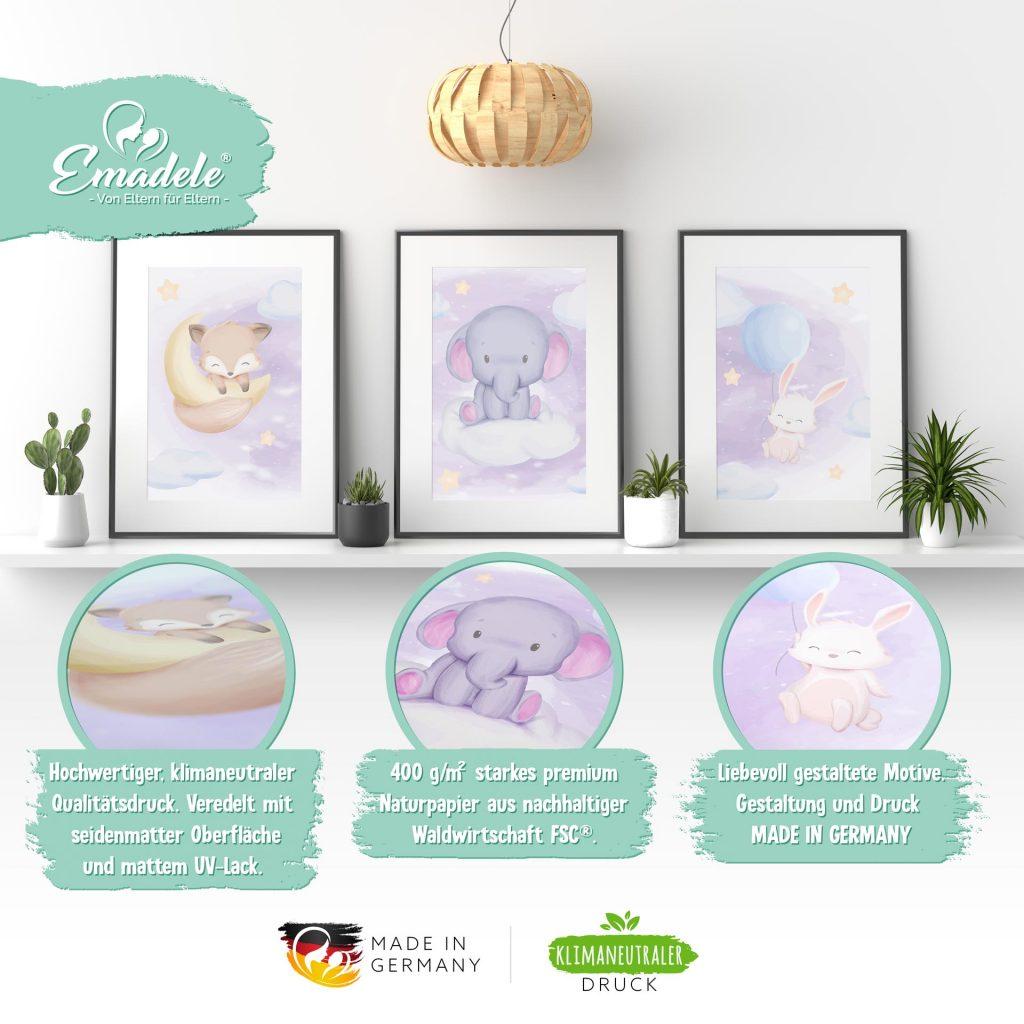 """3687 Product - Emadele 3er Poster Set """"Über den Wolken"""""""