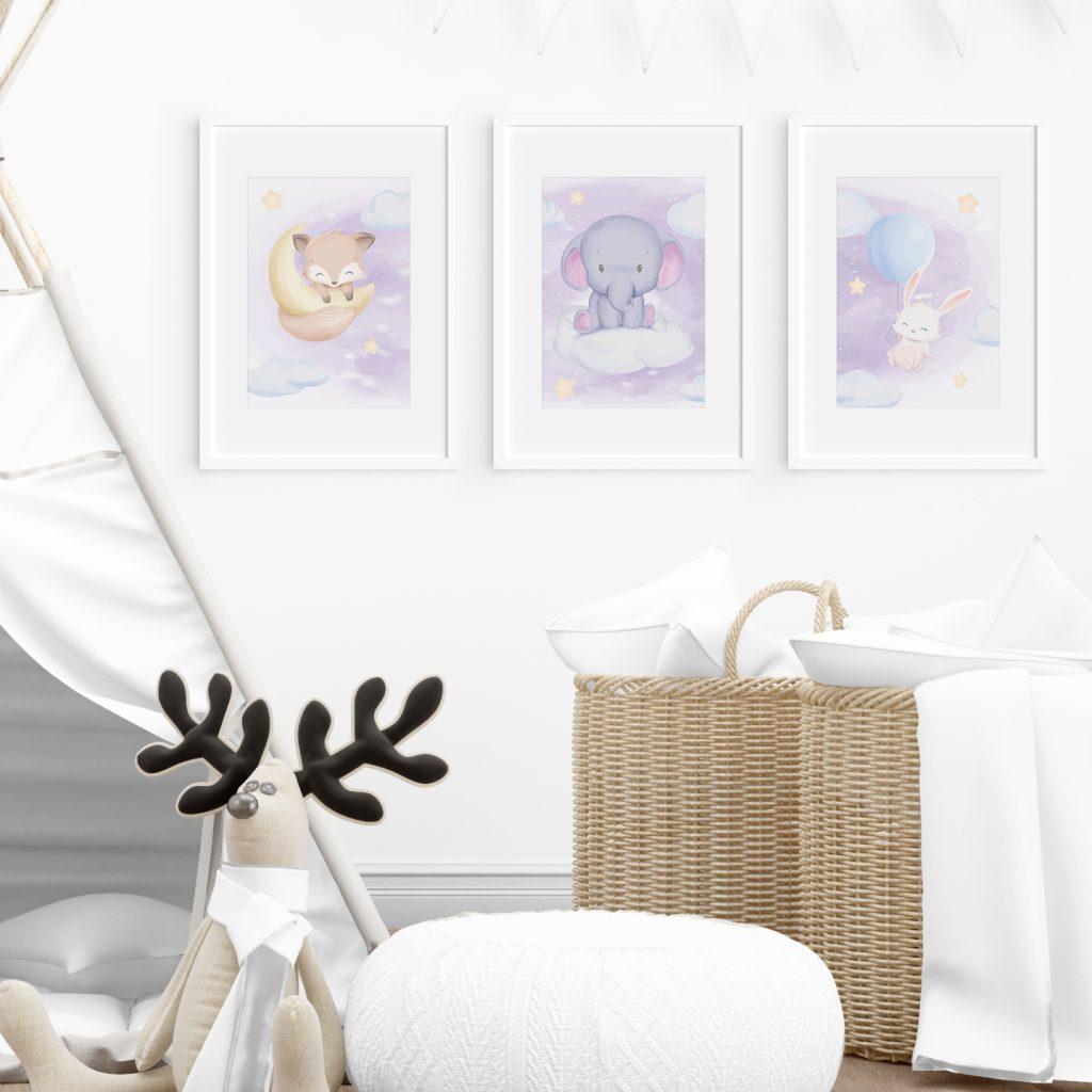 """3690 Product - Emadele 3er Poster Set """"Über den Wolken"""""""